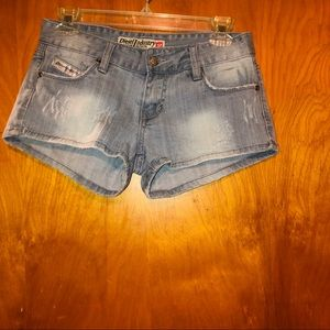 Women diesel denim jean shorts size 29